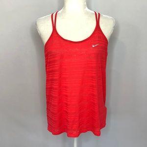 Nike Dri-Fit Coral Striped Tank Top Women's Size M